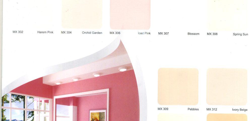 Bảng màu sơn nội thất kinh tế MAXYLUCKY
