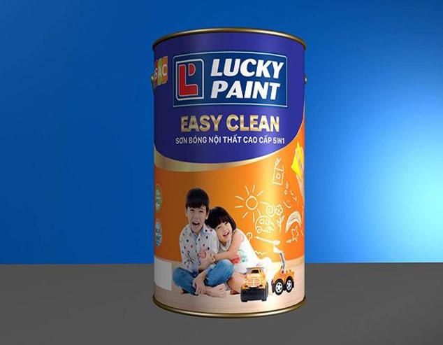 Sơn bóng nội thất cao cấp 5IN - lau chùi hiệu quả (EASY CLEAR)