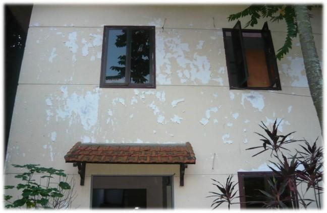 Tường nhà bị bong tróc - một trong những hiện tượng phổ biến mà nhiều ngôi nhà hiện nay đang mắc phải.
