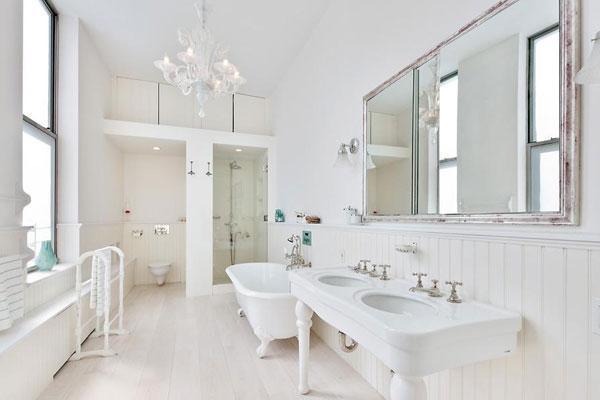 Màu sơn phòng tắm trắng tinh khôi
