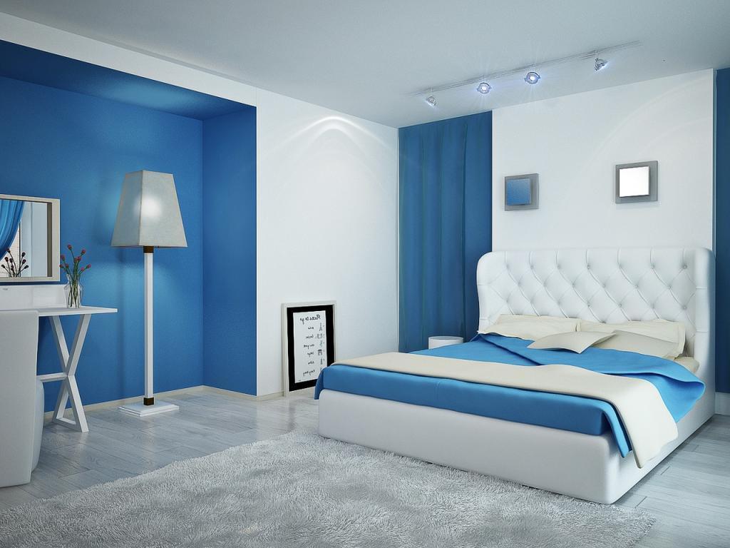 Màu sơn xanh nhẹ nhàng, tươi mát luôn tạo cảm giác thoải mái