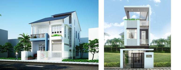 Khi chọn màu sơn biệt thự đẹp nên lưu ý đến màu của mái nhà