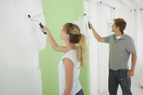 Thi công sơn nội thất siêu trắng Super White