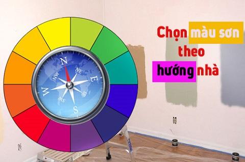 màu sơn dành cho nhà hướng bắ